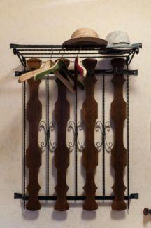 70er Jahre Eiche/Eisen Garderobe mit Hutablage 98 cm b x 120 cm h in Niedersachsen - Bispingen   eBay Kleinanzeigen