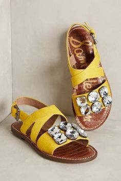 Yellow sandals | fas