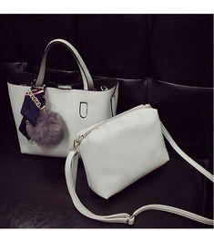 Bolish Litchi Pattern Soft PU Leather Women Handbag Two Pieces Female  Shoulder Bag Girls Messenger bag cf117eb2af60a