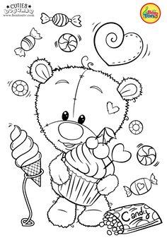 Cuties Coloring Pages for Kids - Free Preschool Printables - Slatkice Bojanke - Cute Animal Coloring Books by BonTon TV Cute Coloring Pages, Animal Coloring Pages, Adult Coloring Pages, Coloring Books, Coloring Pages For Teenagers, Coloring For Kids, Free Preschool, Preschool Printables, Art Drawings For Kids