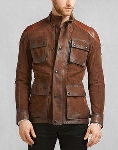 Jackets For Stylish Men. Jackets can be a very important part of every single man's wardrobe. Men require outdoor jackets for assorted circumstances and several varying weather conditions. Cool Jackets For Men, Belstaff Jackets, Men's Jackets, Jackets Online, Dapper Suits, Jacket Style, Jacket Men, Bomber Jacket, Jackett