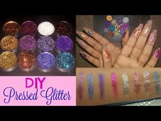DIY : Pressed Glitter || TansiaA - YouTube