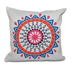 E by Design Mod Geometric Print 18-inch Throw Pillow