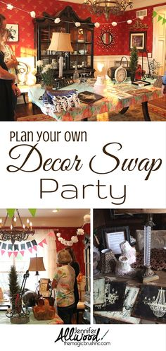 Plan this with your girlfriends!! Here's some great tips for throwing your own decor swap party! A great way to freshen up your interior and get rid of stuff! More decorating tips at TheMagicBrushinc.com