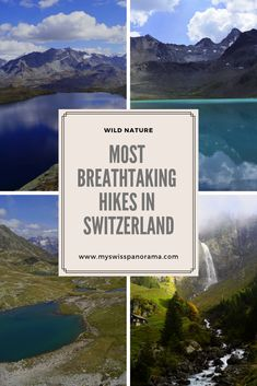 Swim in a royal blue mountain lake, recharge your batteries under meter-high waterfalls and enjoy the most breathtaking panoramic views in Switzerland. Switzerland Destinations, Places In Switzerland, Lake Mountain, Mountain Hiking, Hidden Places, Secret Places, New Hike, Glacier Lake, Hiking Routes