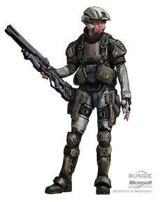 Halo Army Ranger explorations for Halo: REACH, Isaac Hannaford Sci Fi Armor, Sci Fi Weapons, Odst Halo, Halo 2, Halo Armor, Halo Series, Halo Game, Starship Troopers, Halo Reach