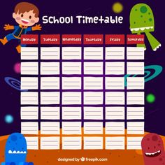Cute School Timetable  Shkola    School Timetable