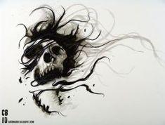 Tattoo Artist At Work Evil Tattoos, Dope Tattoos, Tatoos, Feminine Skull Tattoos, Realistic Tattoo Artists, Negative Tattoo, Tattoo Lounge, Totenkopf Tattoos, Baby Tattoos