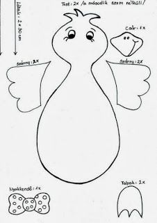 template for bird Spring Crafts For Kids, Art For Kids, Diy And Crafts, Arts And Crafts, Diy Ostern, Kids Patterns, Autumn Art, Animal Crafts, Art Activities