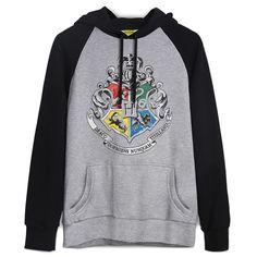 Moletom Raglan Harry Potter Brasão de Hogwarts