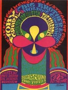 Moby Grape, Avalon Ballroom (5th March 1967), by B. Kliban