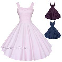 Magic Castle 50s Retro VTG Pinup Hepburn Rockabilly Party Swing Dress R-583 #MagicCastle #FullCircleDress #Festive