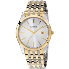 Accurist - Mens Silver Dial Two Tone Stainless Steel Watch - MB972S - RRP £70.00 - Online Price £50.00