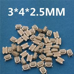 50 unids/lote smt 3x4x2.5mm push button 4pin tact micro interruptor g75 coche de auto-reset control remoto del interruptor envío gratis