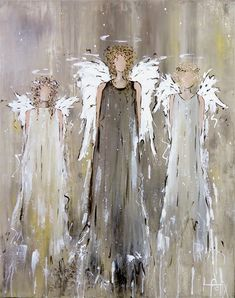 Family Angel on Paper – CanvasKick