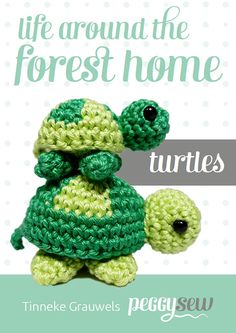 Mini schildpadjes amigurumi haakpatroon Chain Stitch, Slip Stitch, Crochet Yarn, Crochet Hooks, Amigurumi Patterns, Crochet Patterns, Mini Turtles, Magic Circle, Embroidery Thread