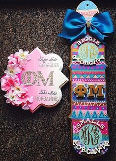 Cute design with the ombré, flowers, and trible. But for gphi obviously