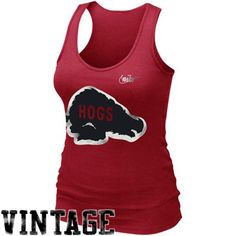 551f889c628a20 Nike Arkansas Razorbacks Women s Retro Rib Tank Top - Cardinal
