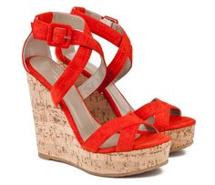 2f18336e7b6c Mario Giordano Red Wedge Sandals Red Wedge Sandals