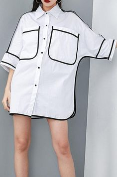 French women blouses Vintage Personality Solid Color Pockets Summer Shirt - - French women blouses Vintage Personality Solid Color Pockets Summer Shirt Source by soolinen Dress Shirts For Women, Blouses For Women, Diy Clothes And Shoes, Casual Tops For Women, Mode Hijab, Blouse Vintage, Summer Shirts, Looks Style, Types Of Fashion Styles