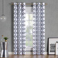 Lichtenberg No. 918 Barkley Trellis Semi-Sheer Grommet Curtain Panel, 40 W x 63 L Cool Curtains, Grommet Curtains, Hanging Curtains, Curtain Fabric, Curtain Rods, Window Curtains, Curtains Vector, Coastal Curtains, Curtain Styles