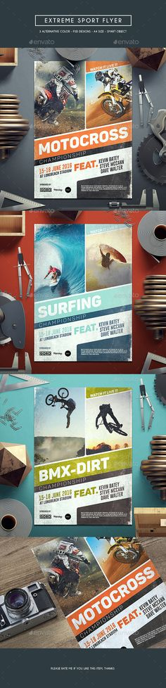 Extreme Sport Flyer Template PSD. Download here: http://graphicriver.net/item/extreme-sport-flyer/16782996?ref=ksioks