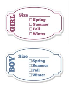Kids Clothing Storage Labels free printable from Life Your Way