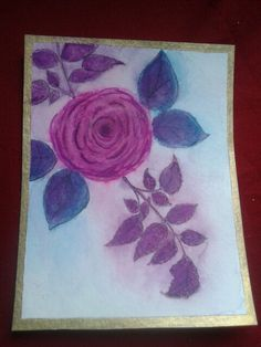 Colored over with Artist Loft 5 dollar watercolors. Hampton Arts rose stamp. The leaf stem is not from Hampton.
