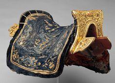 Chinese Saddle and Cover Nazmiyal http://nazmiyalantiquerugs.com/blog/2014/02/year-of-the-horse-antique-carpets-nazmiyal/