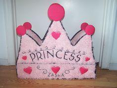 pinata crown princess pink tiara pinata