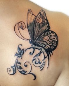 Sündige Haut Tattoo . Suendige Haut Tattoo . Cover up tattoo . Butterfly Tattoo