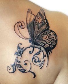 15 Gorgeous Shoulder Butterfly Tattoo Desgns Art Pinterest