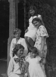 On the photo dated 1938 four daughters of Eng. Adam Stencel, the forester at Kremenets High School. Three of the sisters, along with their father and the husbands of two of them, were killed by Ukrainian in the night between 6 and 7 March 1943 in the village of Żuków, Rivine district in Volhynia province. During that time, apart from assaults on the entire Polish estates, in Volhynia, selected people and families were attacked, usually those with a significant position in the local…