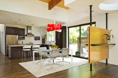 Warm Contemporary Interior Design by GS Architects, USA