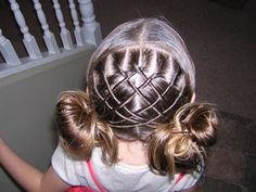 One of my favorite hairstyles on the princess hairstyles blog. I love following her blog to see what she comes up with next.