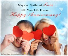 Wish your frinds and family a very Happy Anniversary with this romantic card.