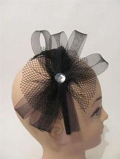 Formal Dress Black Headband Wedding Bridesmaids Kentucky Derby Hat