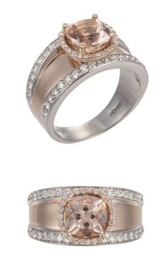 18K White & Rose Gold Diamond Ring <3