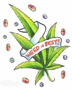 Small Pot Leaf Drawing : small, drawing, Humor