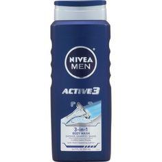 Nivea Men Active 3 Body Wash (Blue) fl oz(pack of Beautycounter Makeup, Men Shower, Shave Gel, Shower Accessories, Shower Time, Men's Grooming, Body Wash, Female Bodies, Shaving