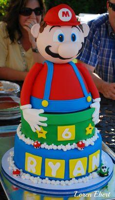 3-D Mario cake by Loren Ebert  The Baking Sheet  www.thebakingsheet.blogspot.com
