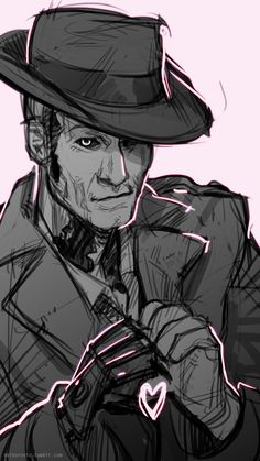 """delborovic: """" """"♥ Happy Valentine's Day from The Commonwealth~! ♥ """" I know a lot of people have done similar arts, but I wanted to do my own take and draw some fav boys: MacCready is for me, Nick is of... Fallout 4 Nick Valentine, Fallout 4 Companions, Fallout Tattoo, Character Inspiration, Character Design, Character Art, Fallout Fan Art, Vault Tec, Fall Out 4"""