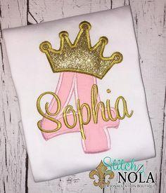 custom gold crown princess birthday shirt