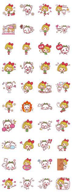 Kanna & Miiko - LINE 個人原創貼圖