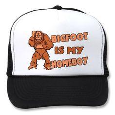 Bigfoot Is My Homeboy Mesh Hat by funnybizness