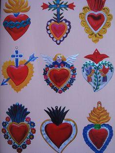 Mexican Hearts by cocobeloeil, via Flickr