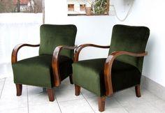 Dark green Art Deco chairs