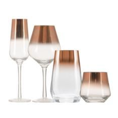 Rosegold is the ultimate statement in glamour and style. Bring a touch of rosegold to your entertaining with these rosegold dipped glasses.