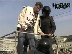 The clash with police in the Swamp area. May 6, 2012. Moscow.