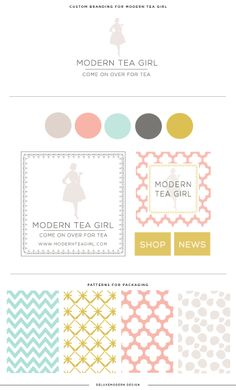 Deluxemodern for Modern Tea Girl - beautiful logo design